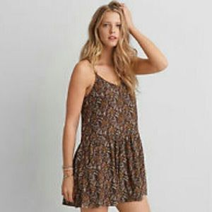 American Eagle Boho Babydoll Dress